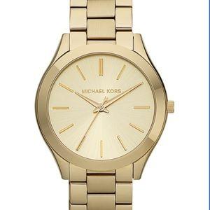 Michael Kors Slim Runway Watch in Gold